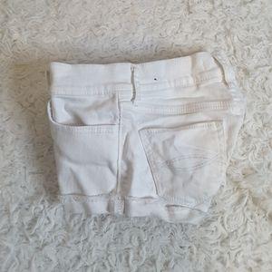 3/$30 Abercrombie Kids white denim shorts size 8